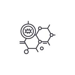 Biology linear icon concept. Biology line vector sign, symbol, illustration.