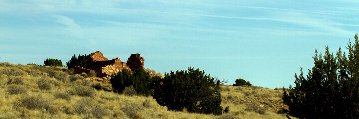 The Box Canyon ruin inside Wupatki National Monument in northern Arizona protects an ancient Native American pueblo site. This image shows the landscape surrounding it.
