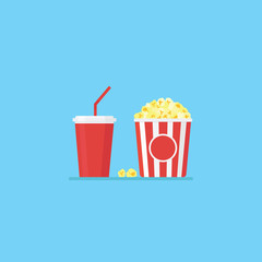 Popcorn and cold drink
