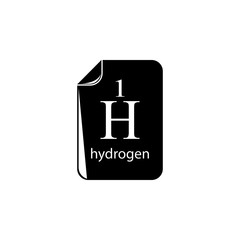 hydrogen formula icon. Element of science for mobile concept and web apps. Detailed hydrogen formula icon can be used for web and mobile. Premium icon