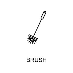 toilet brush icon. Element of web icon for mobile concept and web apps. Detailed toilet brush icon can be used for web and mobile. Premium icon