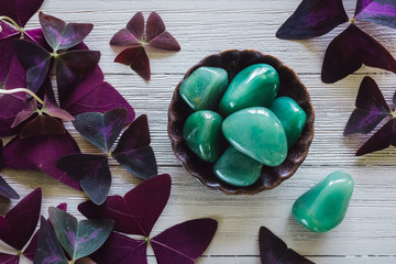 Green Aventurine with False Shamrock