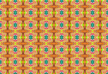 Background pattern illustration with diamonds and lively colors