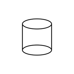 3d cylinder icon. Element of geometric figure for mobile concept and web apps. Thin line 3d cylinder icon can be used for web and mobile