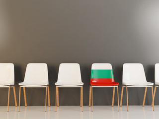 Chair with flag of bulgaria