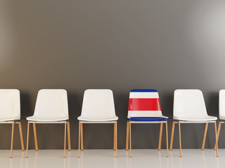 Chair with flag of costa rica