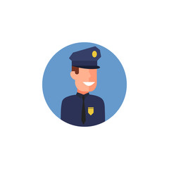 colored avatar of policeman icon. Element of colored people profession icon for mobile concept and web apps. Detailed colored avatar of policeman icon can used for web and mobile