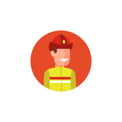 colored avatar of firefighter icon. Element of colored people profession icon for mobile concept and web apps. Detailed avatar of firefighter icon can be used for web and mobile
