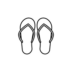 flip-flops icon. Element of travel icon for mobile concept and web apps. Thin line flip-flops icon can be used for web and mobile. Premium icon