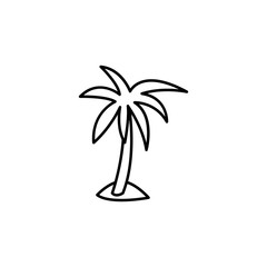 palm icon. Element of travel icon for mobile concept and web apps. Thin line palm icon can be used for web and mobile. Premium icon