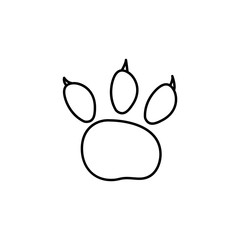 bear track icon. Element of travel icon for mobile concept and web apps. Thin line bear track icon can be used for web and mobile. Premium icon