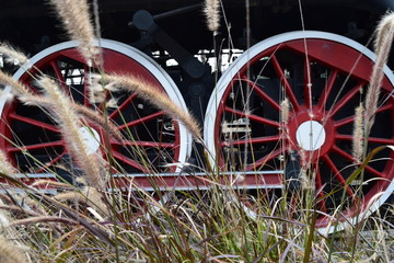 Train wheels with spikes
