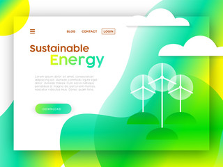 Eco friendly online web landing page template