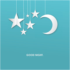 Good Night Vector Template Design Illustration