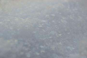 blue snow blurred background