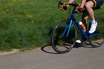 cyclists on a raceday