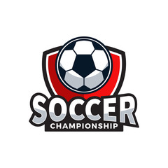 Soccer Football Championship Logo Vector Illustration