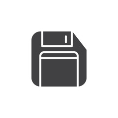 Floppy disk vector icon. filled flat sign for mobile concept and web design. Diskette simple solid icon. Save symbol, logo illustration. Vector graphics