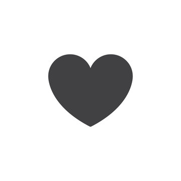 Heart vector icon. filled flat sign for mobile concept and web design. Love simple solid icon. Symbol, logo illustration. Pixel perfect vector graphics