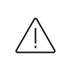 danger sign, road sign outline vector icon. Modern simple isolated sign. Pixel perfect vector illustration for logo, website, mobile app and other designs