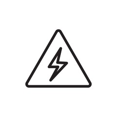 high voltage sign, electricity sign outline vector icon. Modern simple isolated sign. Pixel perfect vector illustration for logo, website, mobile app and other designs