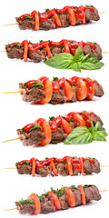 Fragrant mutton shish kebab with sauce