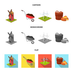 Garden, plot, ecology and other web icon in cartoon,flat,monochrome style. Drink, liquid, farm icons in set collection.
