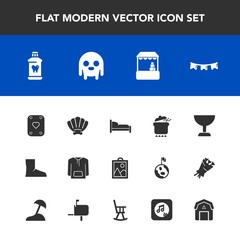 Modern, simple vector icon set with sea, health, supermarket, space, happy, image, meal, shell, flag, seashell, background, dish, picture, hygiene, clothing, ufo, boot, food, game, marine, care icons