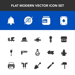 Modern, simple vector icon set with no, earth, microphone, game, alcohol, space, nature, style, jam, globe, fashion, food, weapon, home, war, wine, picture, headwear, bucket, concrete, music icons