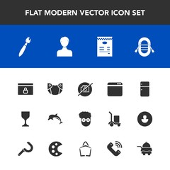 Modern, simple vector icon set with picture, travel, boat, infant, alcohol, fridge, ship, web, wildlife, internet, browser, account, animal, diaper, nature, hotel, glass, user, baby, lock, wine icons