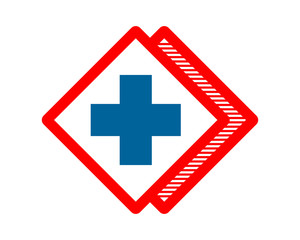 cross rhombus pharmacy medical clinic image vector icon logo