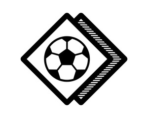 soccer football sport rhombus icon image vector