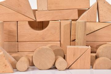 積み木の壁