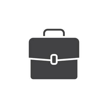 Briefcase vector icon. filled flat sign for mobile concept and web design. Portfolio simple solid icon. Suitcase symbol, logo illustration. Pixel perfect vector graphics