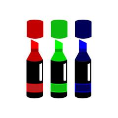 Marker Colour RGB Illustration Design