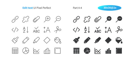 Edit text UI Pixel Perfect Well-crafted Vector Thin Line And Solid Icons 30 2x Grid for Web Graphics and Apps. Simple Minimal Pictogram Part 4-4