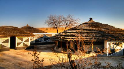 Traditional Ndebele hut at Botshabelo, Mpumalanga, South Africa