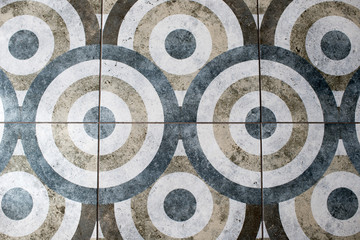 Floor tile in the form of a circle texture