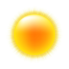 Sun With White Background