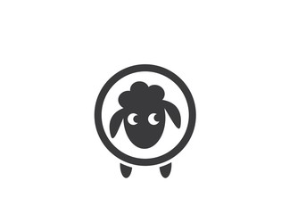 sheep logo vector