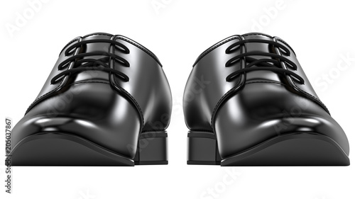Front view of men's fashion shoes black, classic design
