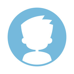 Male avatar icon vector