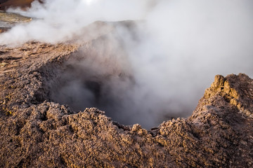 Sol de manana hot mud in sud Lipez reserva, Bolivia