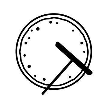 Crepe illustration icon / baking crepe