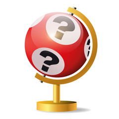 jeu - loto - chance - casino - jackpot - jeu d'argent - concept - loterie - gagner - gagnant - globe - bingo