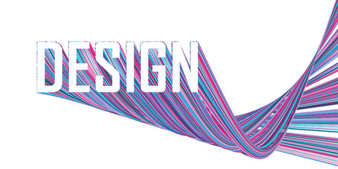 DESIGN extruded text