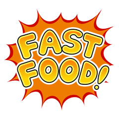 Fast food word comic book pop art vector