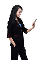 Images of asian business woman using a mobile phone