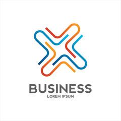 cross business logo design vector