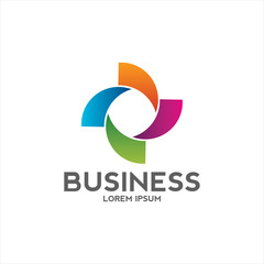 circle vortex logo design business company